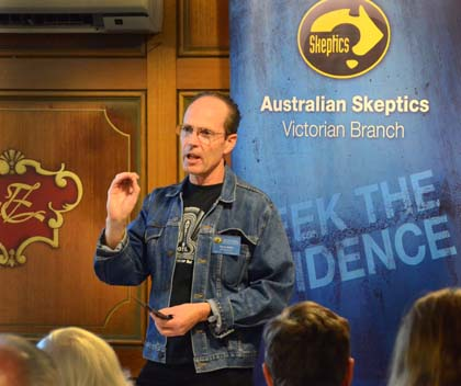 Terry Kelly opens a Skeptic Café - April 2012