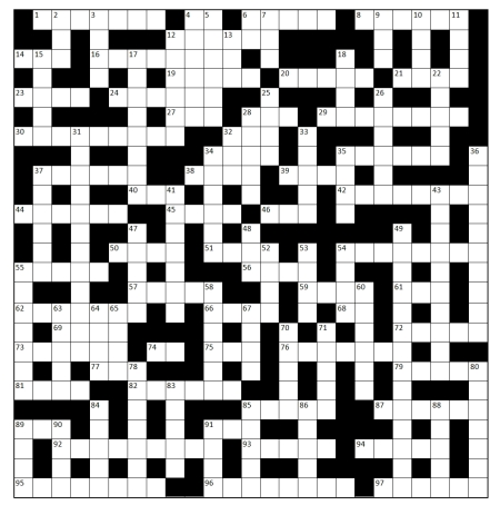 34 June 2013 crossword grid