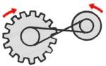 inverted belt pulley