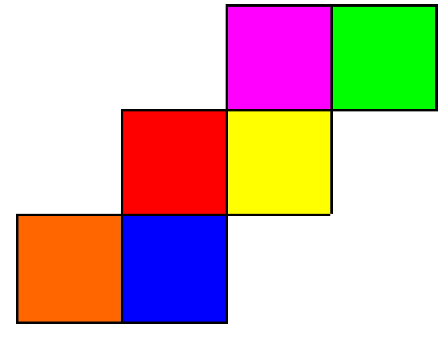 Image result for coloured cube net