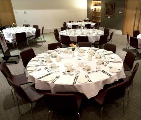 Graduate House Dinner setting
