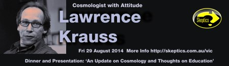 Dinner with Lawrence Krauss - click to see full size banner