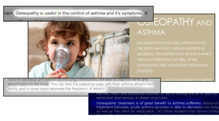 Osteo asthma mash of screen grabs