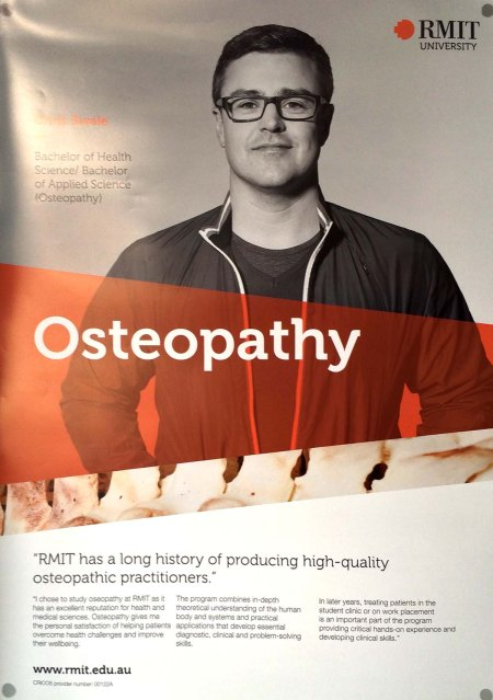 RMIT osteopathy promotional poster