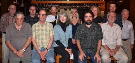 The Victorian Skeptics Committee, Dec 2015, (Front L-R) Roy Arnott, Terry Kelly, Francesca Folk-Scolaro, Chris Guest, Peter Hogan. (Back L-R) Ken Greatorex, Stephen Edmonds, Tony Pitman, Michelle Bijkersma, Mary-Jo O'Rourke, Mal Vickers, Frank Burden